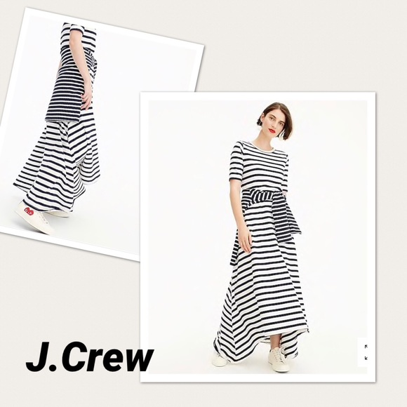 92033bce705 J.Crew Striped knit maxi dress